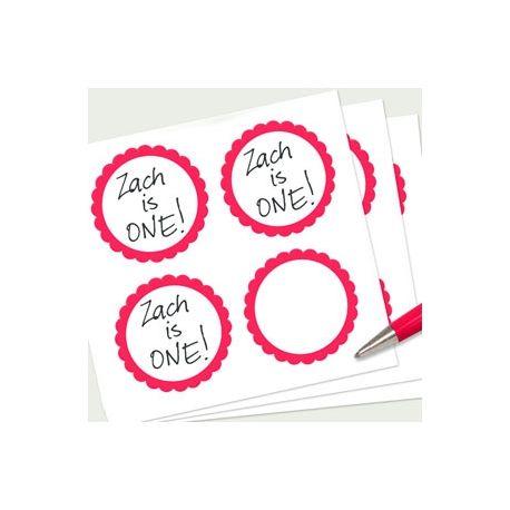 20 etichette adesive rosse