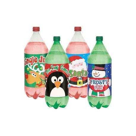 4 Etichette per bottiglie Natale