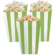 5 Porta popcorn strisce verdi