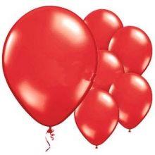 10 Palloncini rossi effetto metallizzato