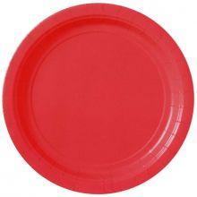 20 Piatti di carta color rosso 23 cm