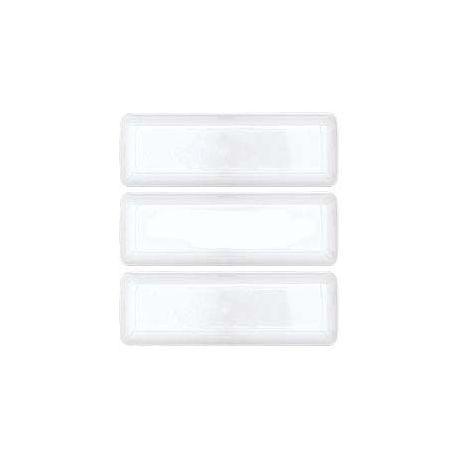 10 Vassoietti rettangolari bianchi in plastica