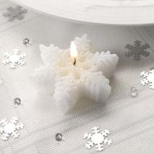 Candele fiocco di neve scintillanti