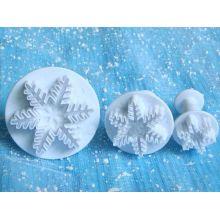3 Stampi Fiocchi di neve a  espulsione