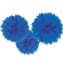 Grandi Pom Poms Blu