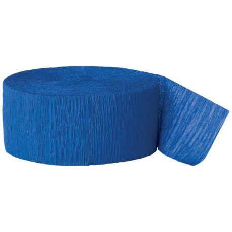 Rotolo nastro carta crespa blu 152 x 8 cm