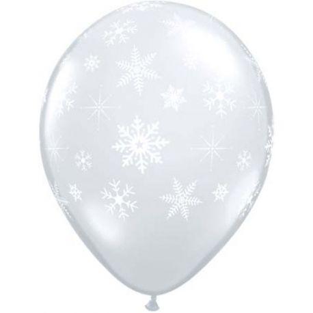 Palloncini Trasparenti con fiocchi di neve