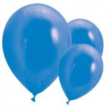 10 Palloncini blu effetto metallizzato