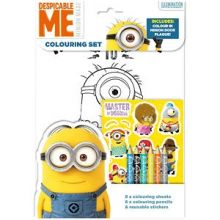 Set per colorare e adesivi Minions
