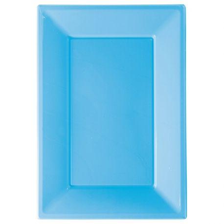 Vassoio plastica azzurro 3 pz
