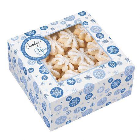 Scatole per dolci personalizzabili fiocchi di neve