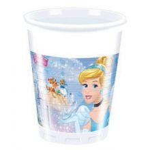 Bicchieri plastica Cenerentola Farytale