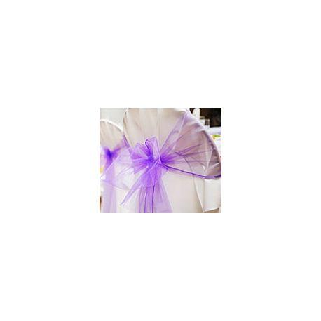 6 Nastri in Organza per Sedie Color Viola