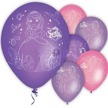 5 Palloncini Sofia in lattice Violetto-Rosa