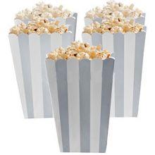 5 Porta popcorn strisce argento