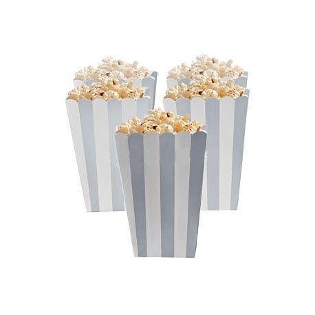 5 Porta popcorn strisce nere