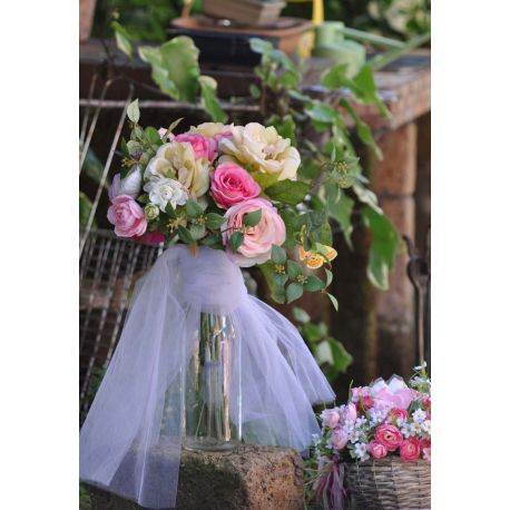 Bouquet di Rose con Tulle