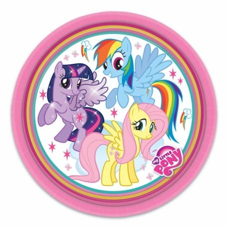 My Little Pony Party Piatti Carta 23 cm 8pz