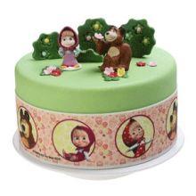 Nastro Decorativo per Torta Masha e Orso