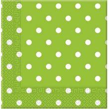Tovaglioli di carta verdi a pois