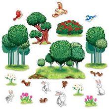 Decorazione alberi e animaletti del bosco