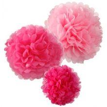 Pom Poms Mix Rosa