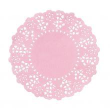 100 Centrini  rosa confetto 11 cm