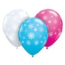 15 Palloncini Mix con fiocchi di neve