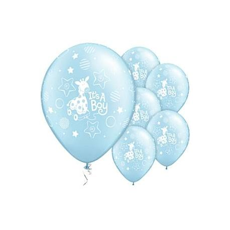 Palloncini Baby color Azzurro Perlato