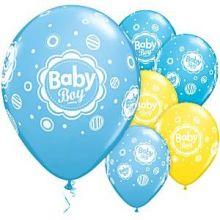 Palloncini Baby Boy Azzurri e Gialli