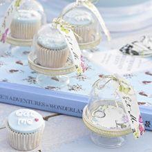 Set da 6 pz Mini Cake Stand Festa Alice nel Paese delle Meraviglie