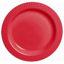 Piatto Plastica Premium Rosso