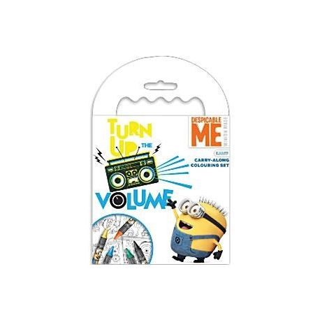 Minion carry along set da colorare e pastelli wimipops for Disegni dei minions