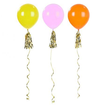 Palloni Giganti Colorati con ciuffi oro