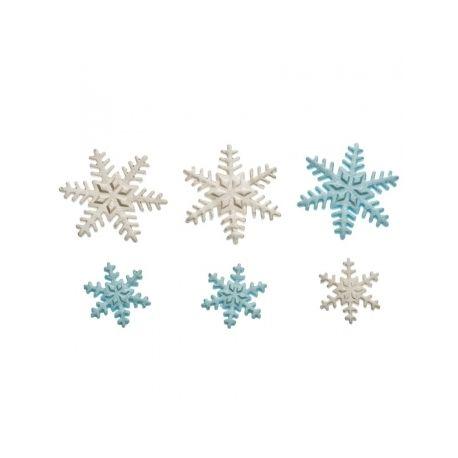 Fiocchi di neve in zucchero 9 pz