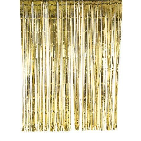 Tenda in lamina metalliica color oro