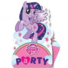 My Little Pony Party Biglietti invito 8pz