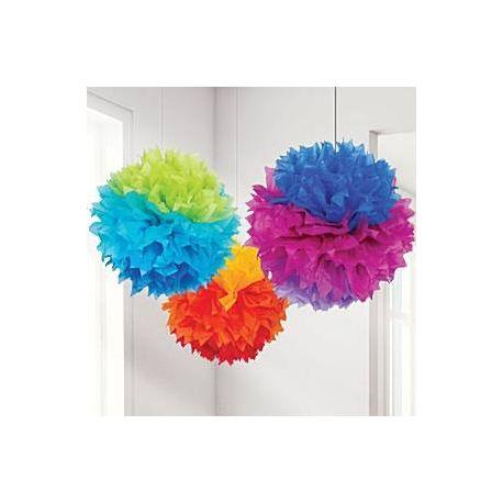 Pom Poms frastagliati Mix Colori