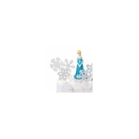 6 Fiocchi di neve Bianchi Zucchero 5 cm