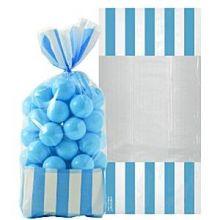 10 Sacchetti  Porta caramelle Azzurri