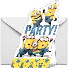 6 Biglietti di Invito Minions Party