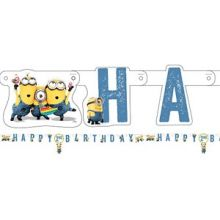 Festone Minions scritta Happy Birthday