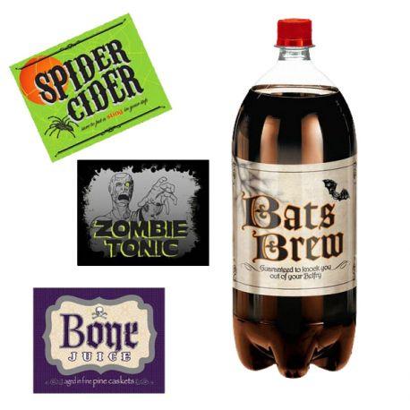 Etichette Halloween per bottiglie