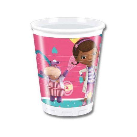 Dottoressa Peluche bicchieri di plastica