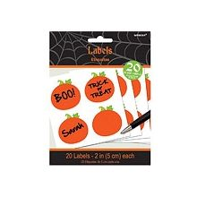 Etichettte Halloween a forma di zucca