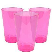 10 Bicchieri Plastica trasparente  Fucsia