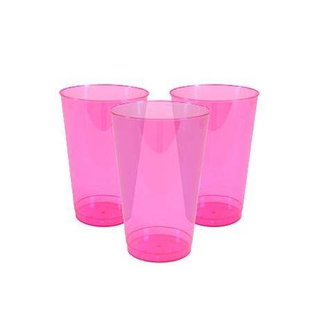 12 Bicchieri Plastica Rosa