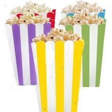 5 Porta popcorn mix strisce colorate