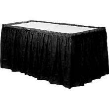 Gonna in plastica nera per tavolo (4 m)