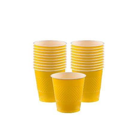 Bicchieri plastica color Giallo (10 pz)